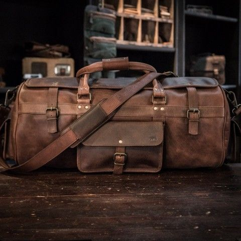 Men's Roosevelt Large Travel Duffle Bag - Dark Walnut