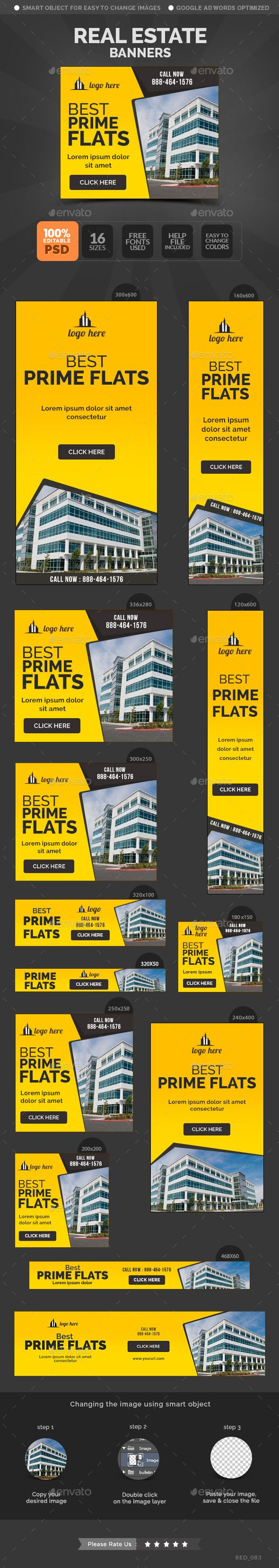 Real Estate Banners Template