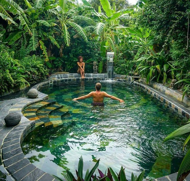 Hidden pool secret oasis.