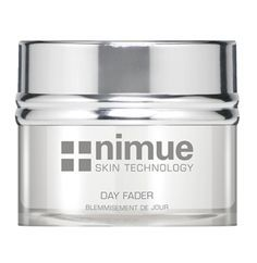 Hyperpigmentation Range Product 3: Day Fader. A lightweight day cream for the regulation of hyperpigmented skin conditions. Contains phytoceutical skin brightening ingredients and an antioxidant complex. 50ml. Nimue Skin Technology.