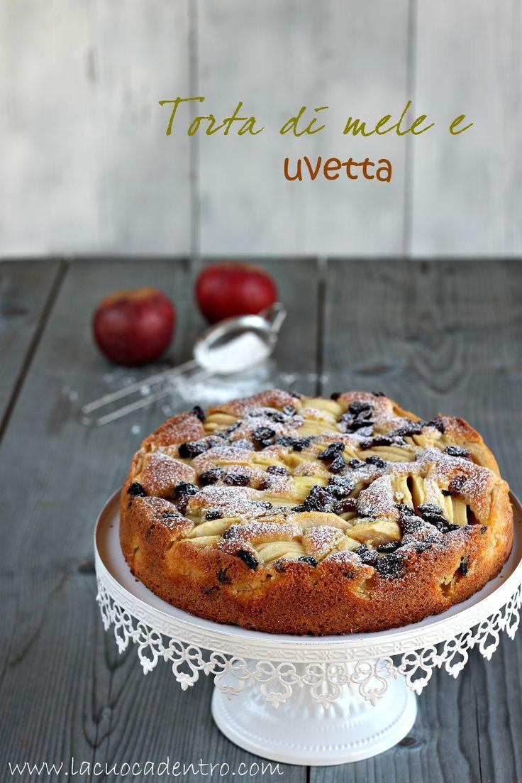 La Cuoca Dentro: Torta di mele e uvetta