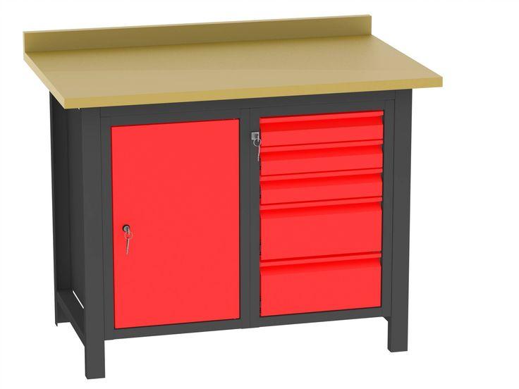 Stoły warsztatowe - http://www.bakpol.pl/kategoria/stanowiska-warsztatowe/stoly-warsztatowe - BAKPOL s.c. #meble #stoly #warsztat #garaz