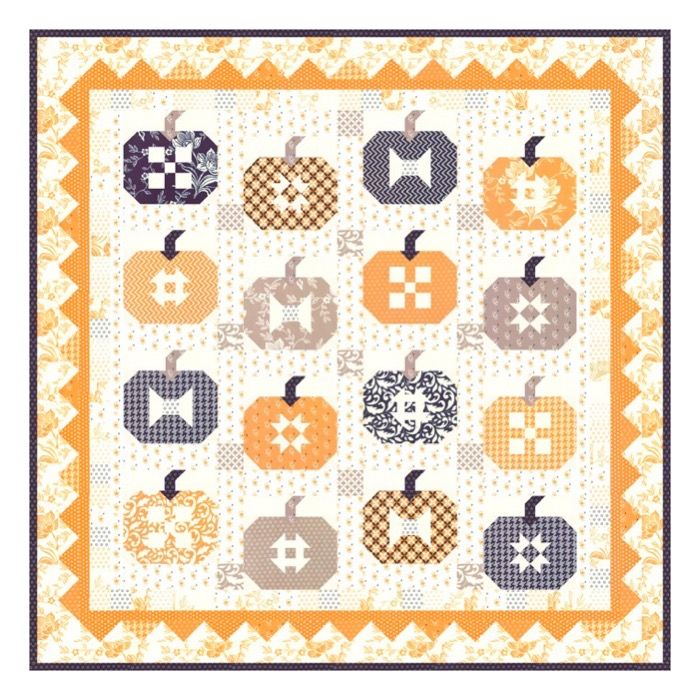 Paper Pattern Pumpkins and Cream by Joanna Figueroa for Fig Tree /& Company