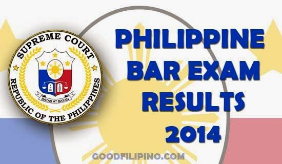 October 2014 Bar Exam Results of the Philippines Released on March 25 2015