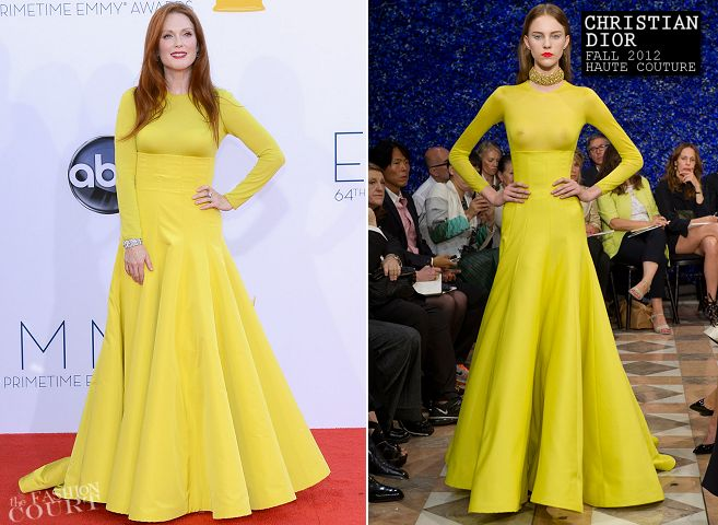 Julianne Moore in Christian Dior Couture | 2012 Emmy Awards