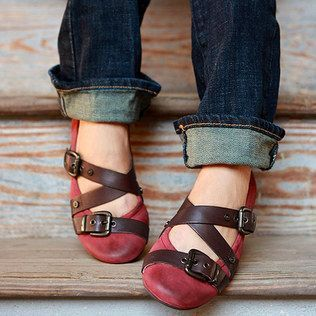 I kind of love these (as long as they have arch support and the buckles don't dig in...)