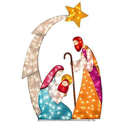 Tinsel Fabric Nativity