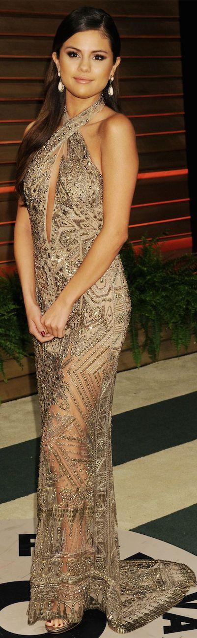 Oscar Award Winning Fashion 2014 - Selena Gomez in Emilio Pucci