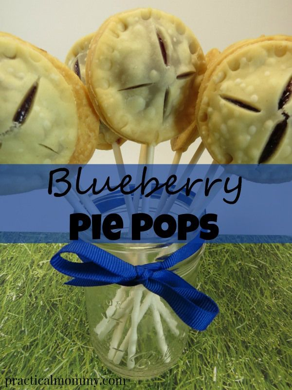 Blueberry Pie Pops - Fun pie pops using Pillsbury ready made pie crusts and blueberry pie filling