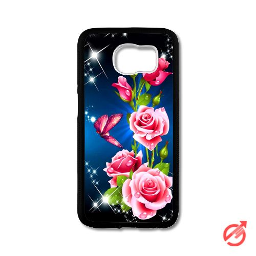Roses Flowers Butterfly Samsung Cases #iPhonecase #Case #SamsungCase #Accessories #CellPhone #Cover #samsung