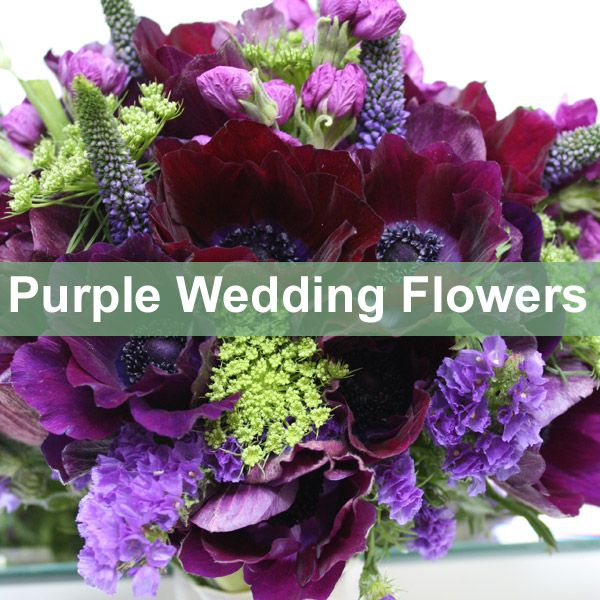 Purple wedding flower ideas and inspiration for a purple wedding colour theme.