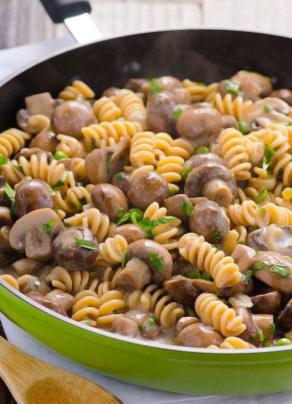 Clean Eating Mushroom Stroganoff -- Same creamy and meaty traditional comfort food, just so much healthier. #glutenfree