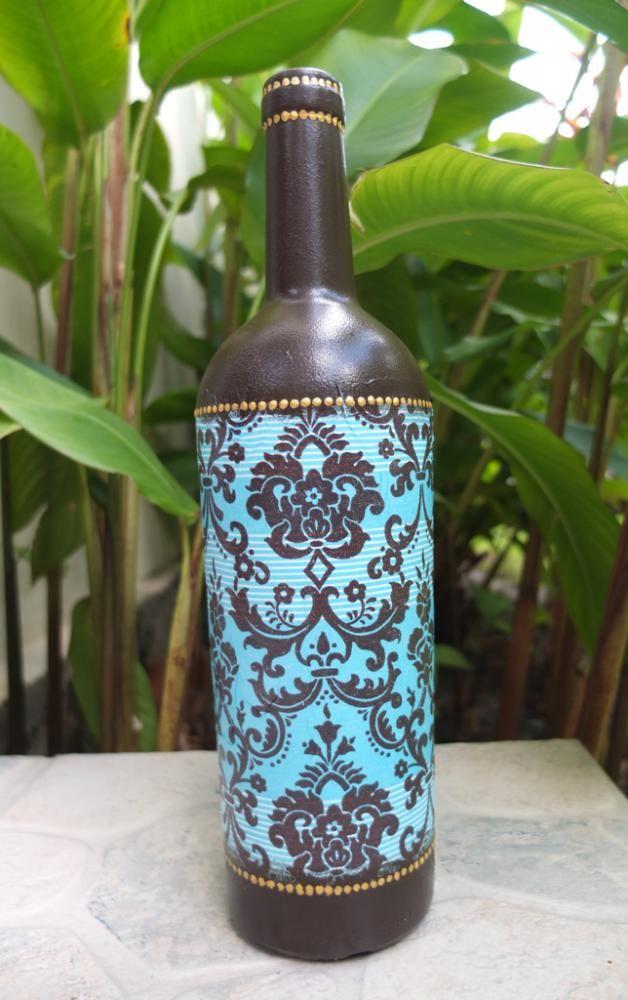 Декупаж - Сайт любителей декупажа - DCPG.RU   Бутылки :-) Click on photo to see more! Нажмите на фото чтобы увидеть больше! decoupage art craft handmade home decor DIY do it yourself bottle