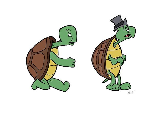 Cecil The Turtle Drawing Drawings Cecil Turtle Cartoon Ink