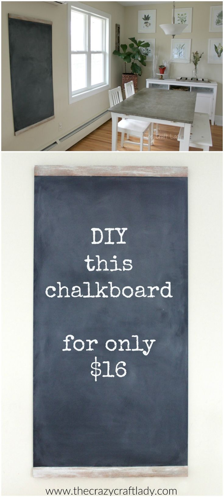 chalkboards are so popular in home decor right now diy this large chalkboard for only