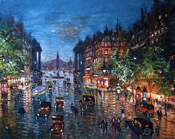 Konstantin Korovin (Константи́н Алексе́евич Коро́вин, 1861-1939)   Paris Boulevard  1939
