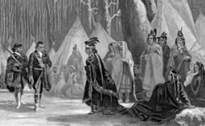 Young Major George Washington Visits Queen Aliquippa  Queen Aliquippa was a leader of the Seneca tribe of Native Americans during the early part of the 18th century. Little is known about her early life. Her date of birth has been estimated anywhere from the early 1670s to the early 1700s, but historians have indicated that she was born in the 1680s, probably in upstate New York.