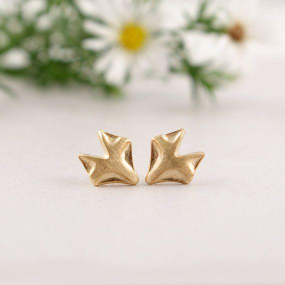 최소 1 개 새로운 도착 패션 골드 도금 여우 스터드 귀걸이 동물 스터드 귀걸이 생일 선물 ED011