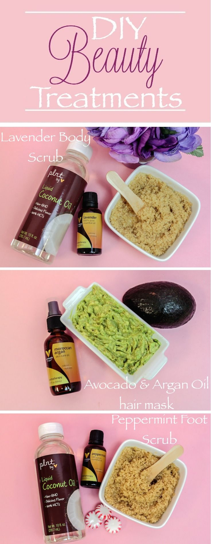 3 DIY Natural Beauty Recipes for Glowing Skin using Vitamin Shoppe's line of aromatherapy products and PLNT coconut oil