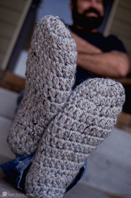 Men S Chunky Slippers Pattern By Ashlea Konecny Crochet