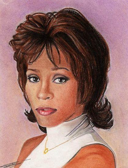nippy   Stars Portraits - Portrait of Whitney Houston by Nippy - 7