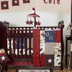 Wild West Western Horse Cowboy Baby Bedding - 9 pc Crib Set  Like this minus the cow print