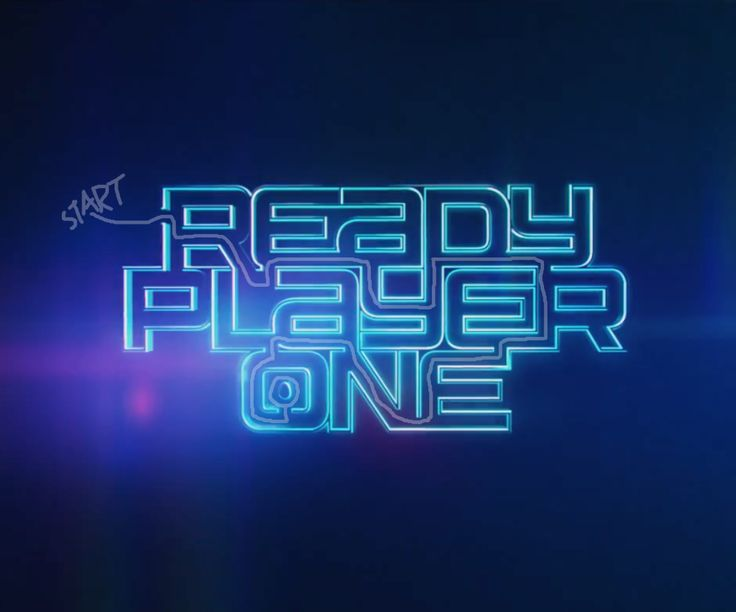 "The ""Ready Player One"" (2018) logo is a maze leading to an easter egg. The movie is about a kid trying to find an easter egg in a massive online VR video game."