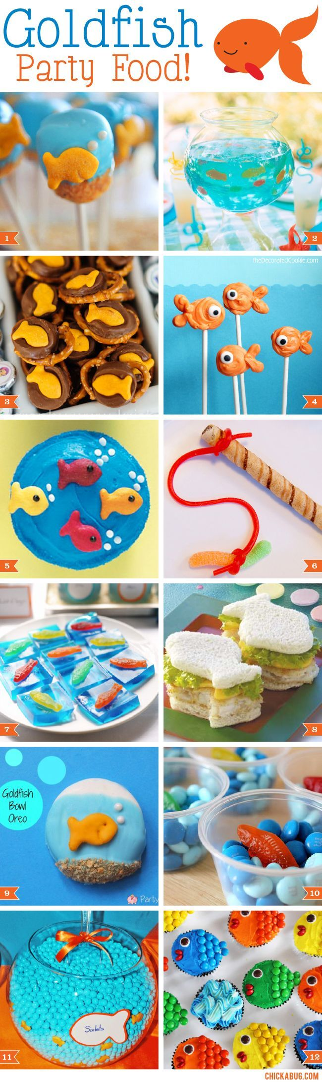 Goldfish party food ideas!