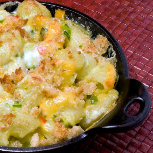 World Famous Green Chile Mac & Cheese - adapted from the Roaring Fork Restaurant in Scottsdale.  A lengthy recipe, but oh so good!