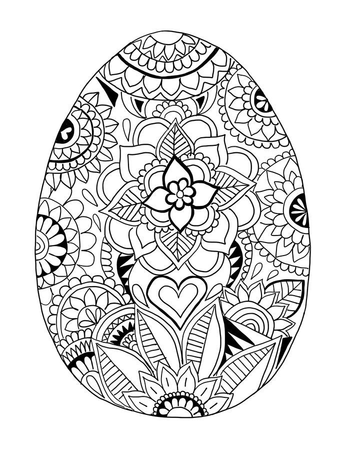 Easter Egg Coloring Pages For Kids in 2020 | Egg coloring ...