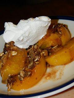 Farm Girl Tails: Peach Oatmeal Crisp