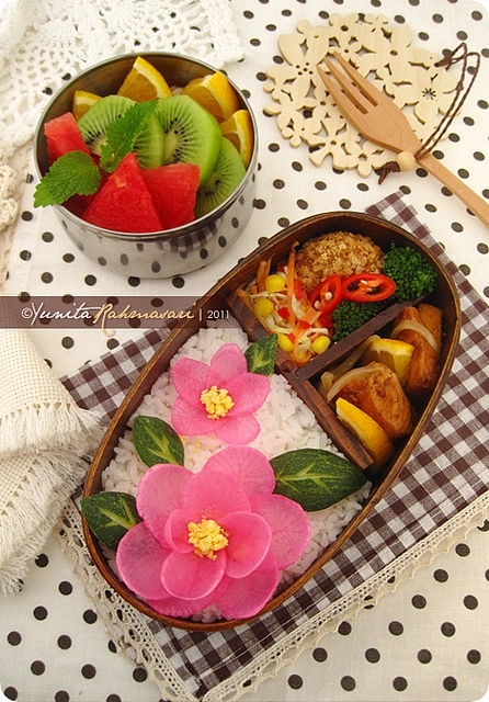 Blooming Pink Flower Bento