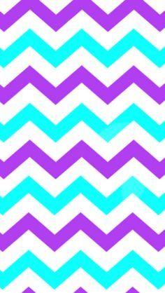 purple and turquoise Chevron design