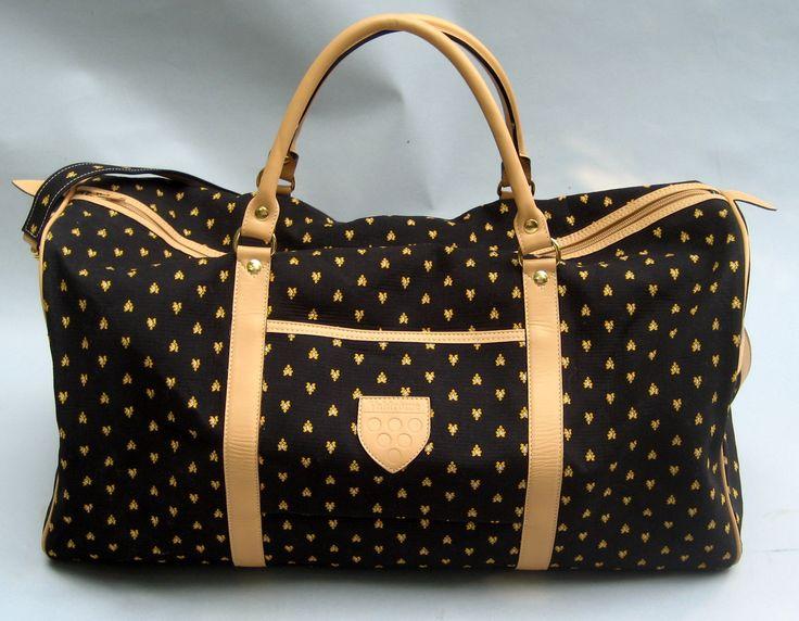Valdrome's sturdy travel bag - 100% cotton, leather lined with additional shoulder strap. hillsleyhood@hotmail.com