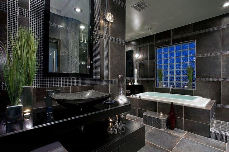 Beautiful Gray Bathrooms Design Ideas Karamila Com Extraordinary Modern Black Master Bathroom Contemporary Showing Elega. bathroom design ideas 2013. images of modern bathrooms. interiors for house. ideas of decorating a small bathroom. restroom remodel ideas.