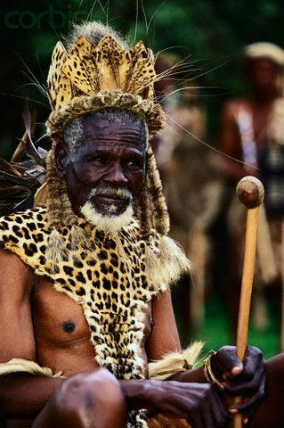 Africa | Prince Galenga is the great grandson of King Shaka's cousin, Biyela, a great strategist in Shaka's campaigns. Melmoth, South Africa | © Roger de La Harpe