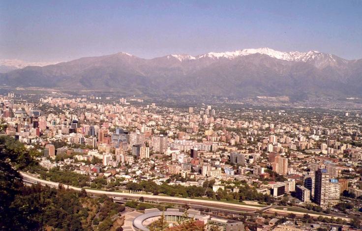 La capital Santiago, Chile