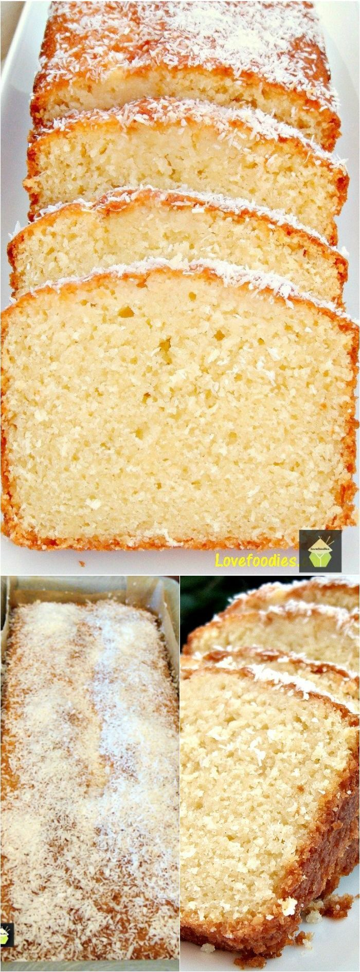 Coconut Pound Cake Loaf Recipe
