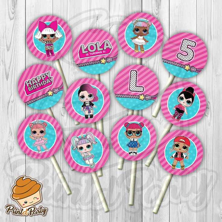 LOL Surprise Doll Cupcake Toppers – Aubree 5th Birthday