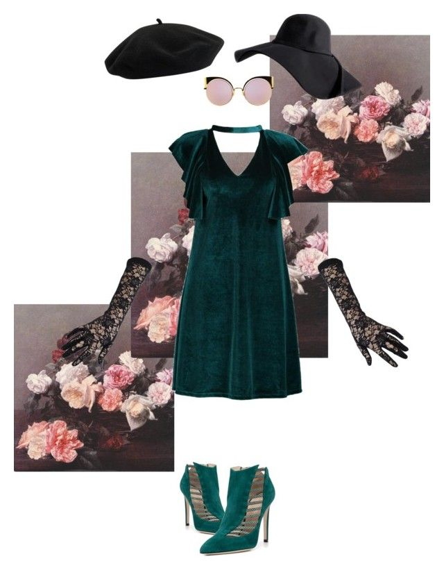 Velvet with two hats by gabri-ella on Polyvore