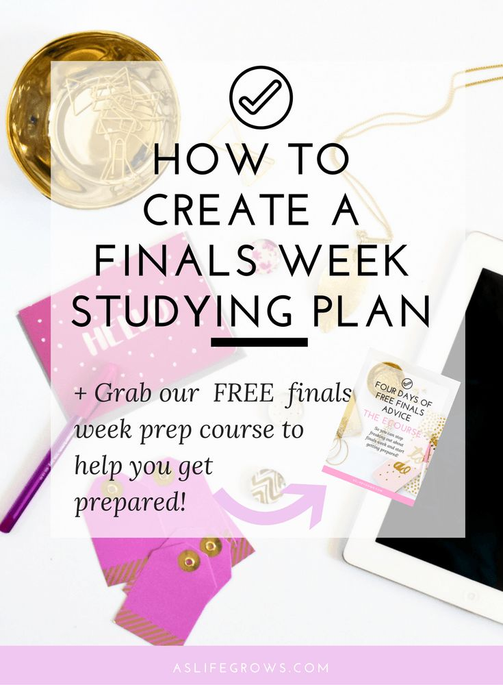 Are you struggling to make a finals week studying plan? If so, this post shares all the tips that you need to know in order to succeed on your finals!
