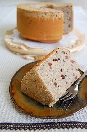 ノンオイル♪小豆シフォンケーキ