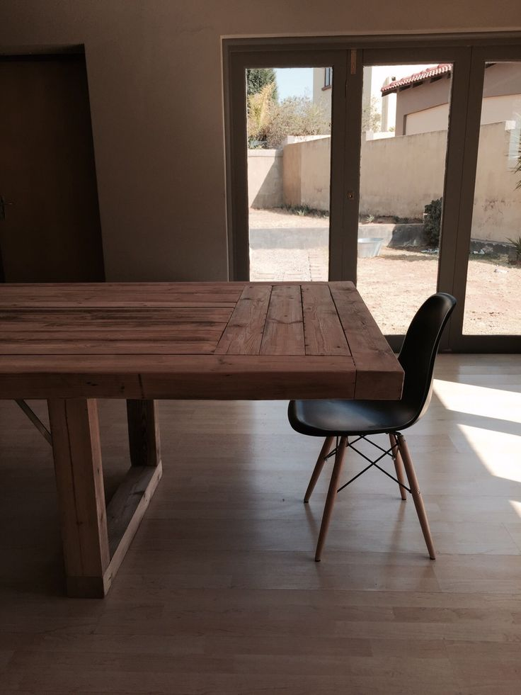 22 SEATER DINING TABLE - MADE FROM TIMBER FLOOR SUB STRUCTURE - +- 100 YEAR OLD TIMBER
