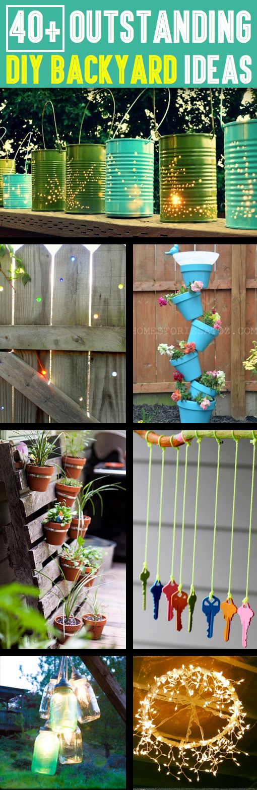 40+ Outstanding DIY Backyard Ideas That Will Make Your Neighbors Jealous -Here you will find 40+ backyard ideas that you can try!