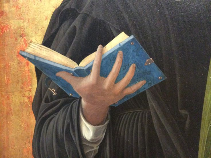 Andrea Mantegna (1431-1506) - Santa Scolastica, dettaglio Polittico di San Luca - 1453-1454 - Pinacoteca di Brera a Milano.