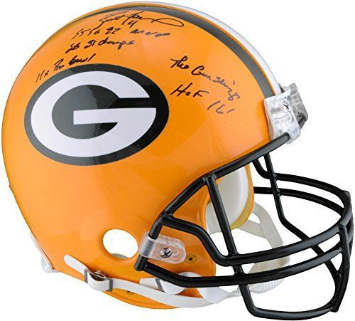 Brett Favre Green Bay Packers Autographed Proline Helmet with Career Stats - Limited Edition of 12 - Fanatics Authentic Certified ** Find out more about the great product at the image link.