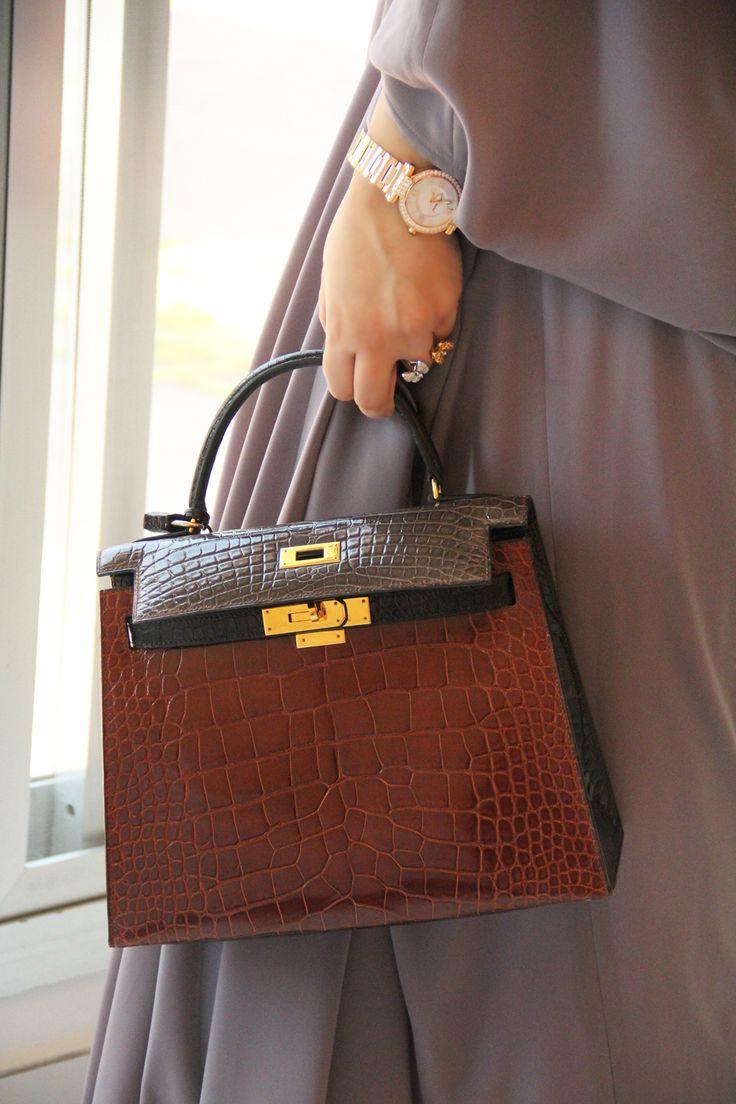 Hermes Kelly Tri-Crocodile Bag