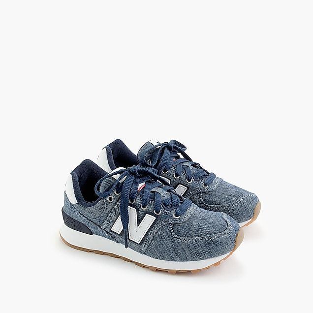 watch abca2 3f48d kids' crewcuts x new balance 574 sneakers in chambray | Wish ...