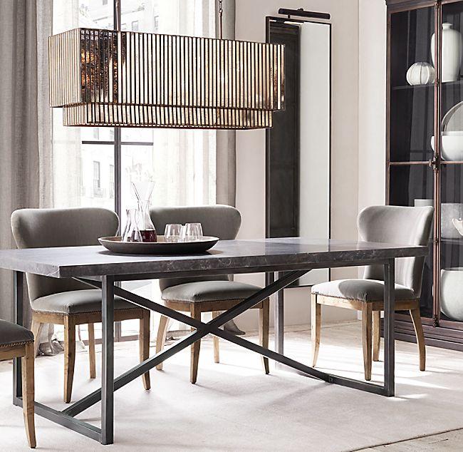 Vitti Mirrored Rectangular Chandelier 60 In 2020 Dining Room Small Narrow Dining Tables Dining Room Design Modern