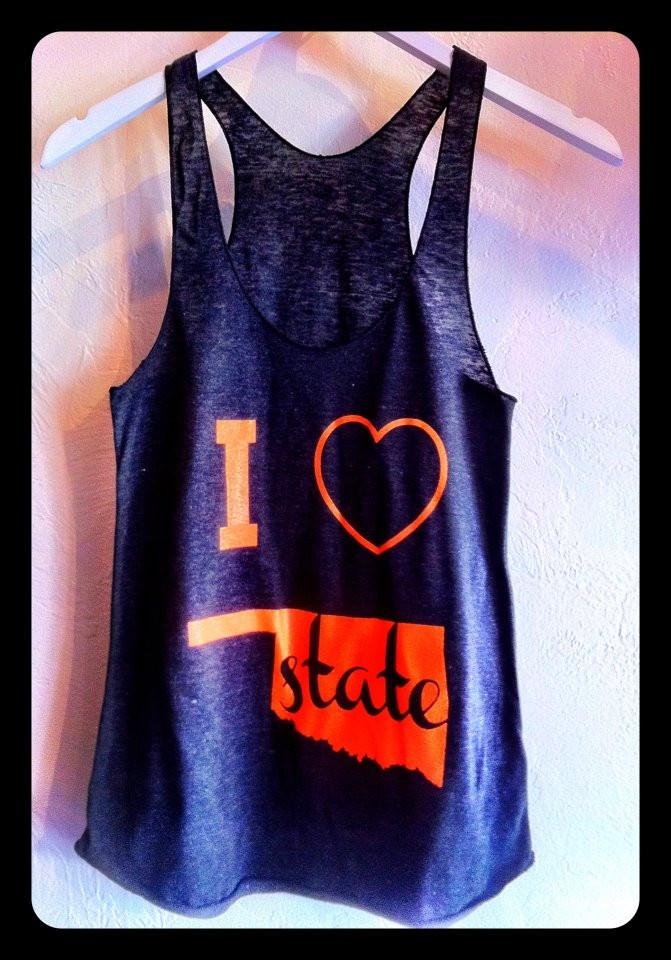 I heart Oklahoma State tank | Royce Clothing: Oklahoma States, States Tanks, Osu Cowboys, Texas State, Poke, Royce Clothing, Closet, U.S. States, Heart Oklahoma